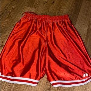 Russel orange athletic shorts